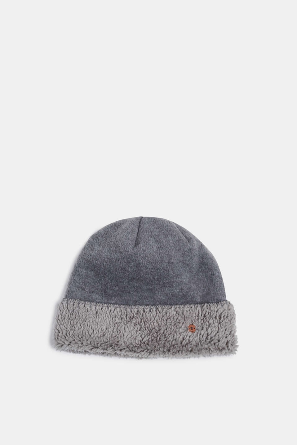 Fleece hat with plush lining, GREY, detail image number 0