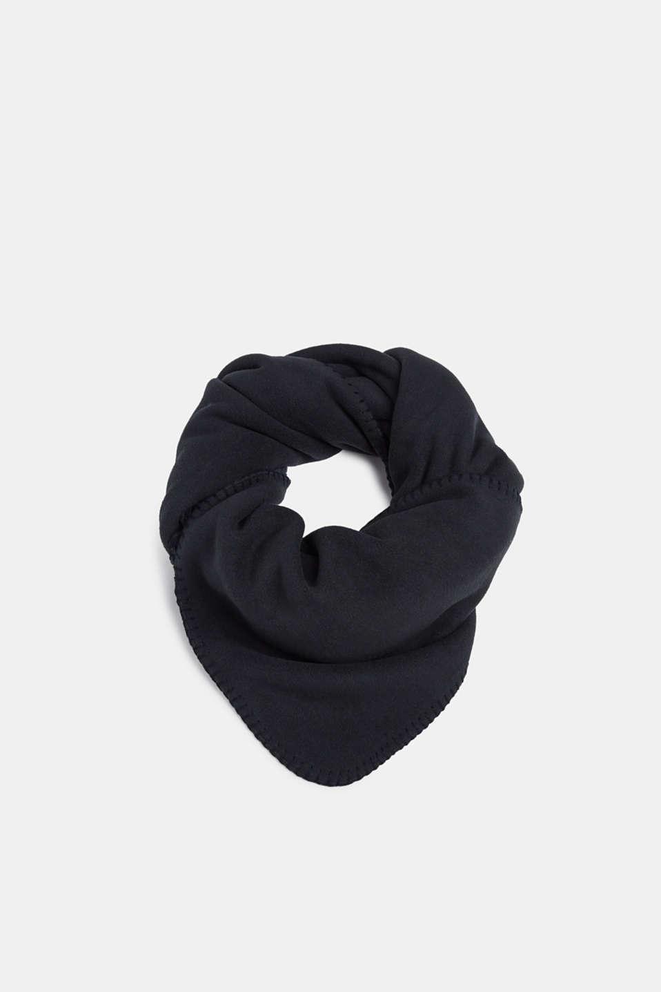 Fleece scarf with teddy fur, BLACK, detail image number 0