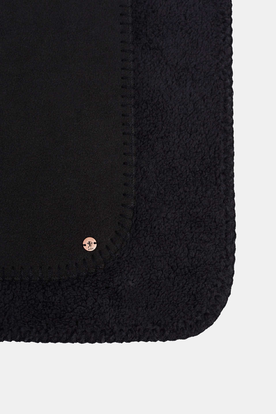 Fleece scarf with teddy fur, BLACK, detail image number 2
