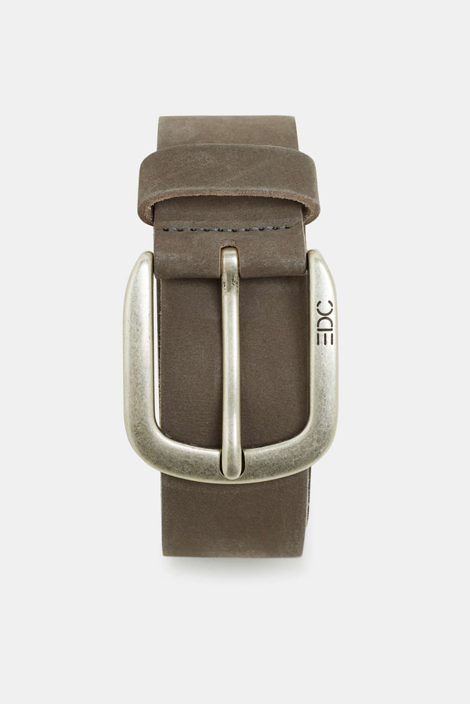 Nubuck leather belt, GREY, detail image number 0