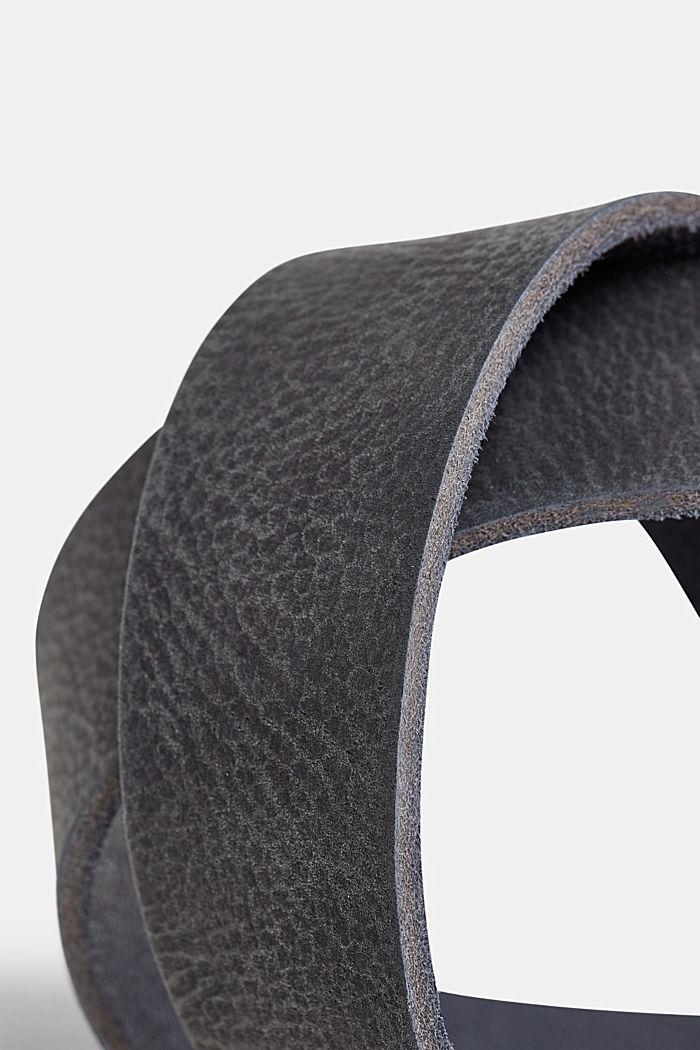 Gürtel aus Nubukleder, NAVY, detail image number 1