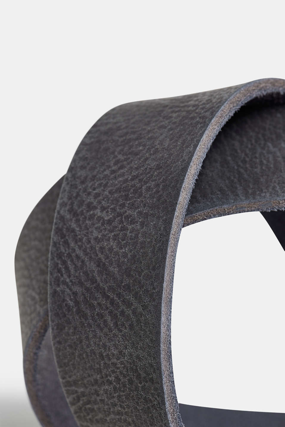 Nubuck leather belt, NAVY, detail image number 1
