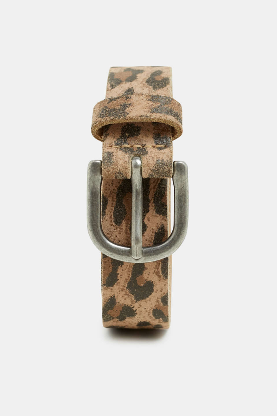 edc - Leopard print belt, made of leather