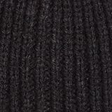 Ribbed beanie with a deep turn-back border, BLACK, swatch