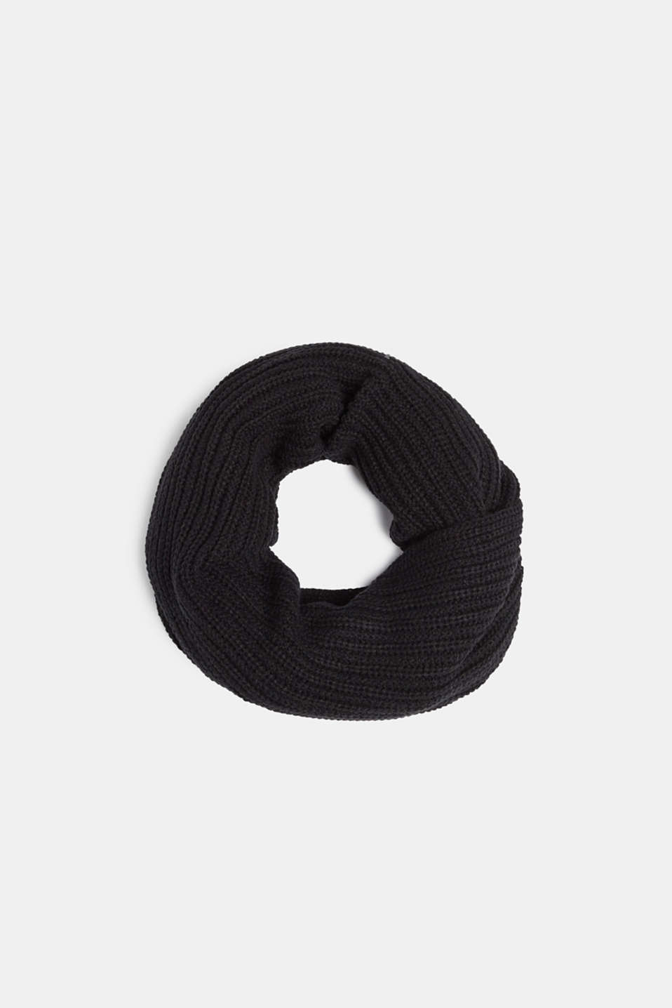 edc - Wool blend: ribbed knit snood