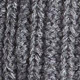 Wool blend: ribbed knit snood, DARK GREY, swatch