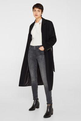 Stretch jeans in a cool black wash, BLACK MEDIUM WASH, detail