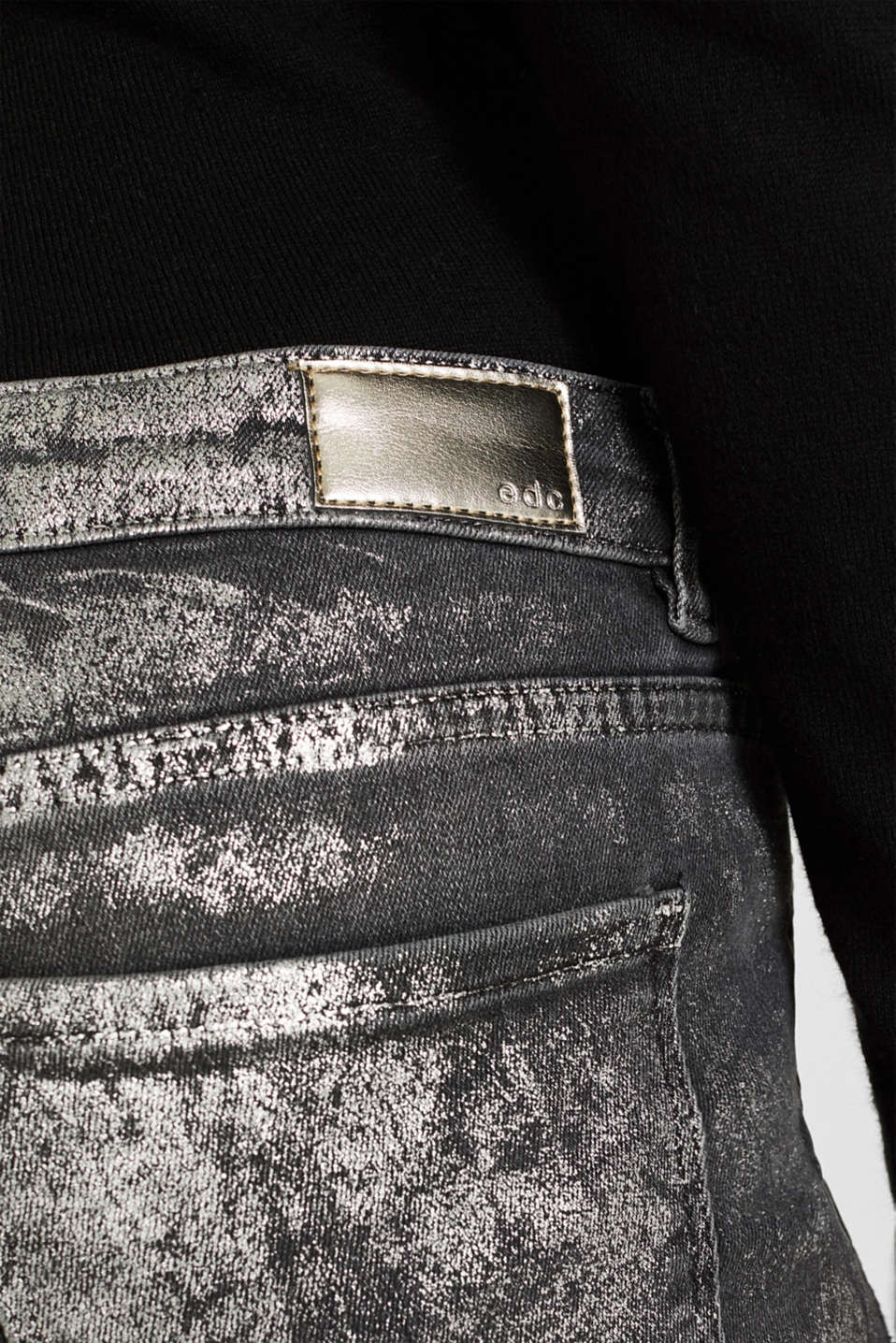 Pants denim, BLACK MEDIUM WASH, detail image number 2