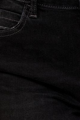 Stretch jeans with vintage effects, BLACK DARK WASH, detail