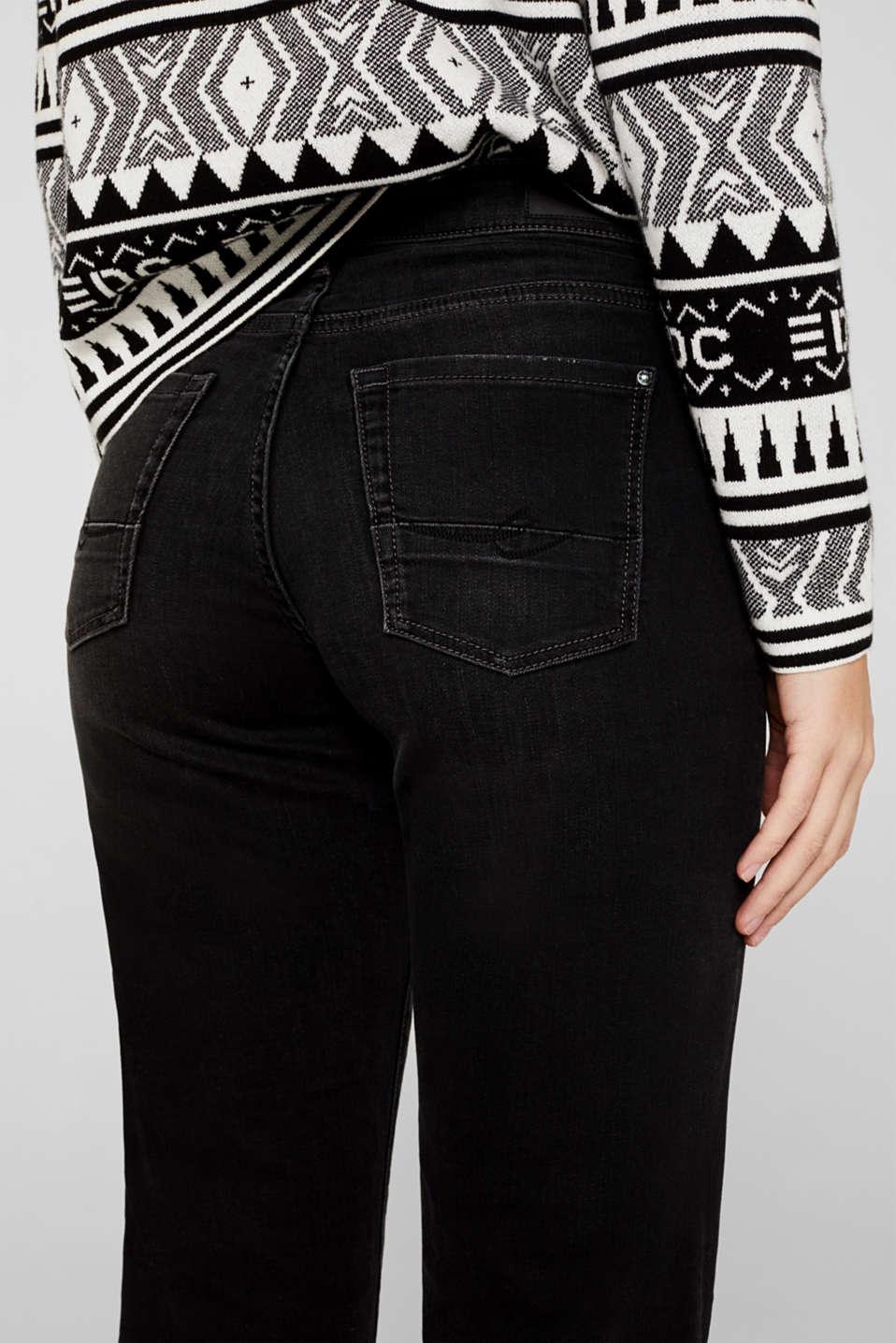 Stretch jeans with vintage effects, BLACK DARK WASH, detail image number 5