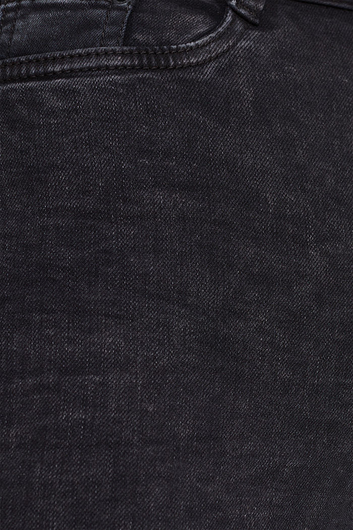 Super stretch jeans in an acid look, BLACK, detail image number 4