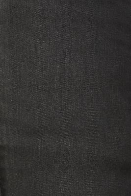 Coated stretch denim skirt, BLACK MEDIUM WASH, detail