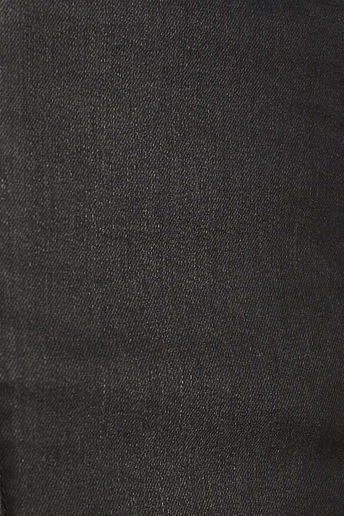Coated stretch denim skirt, BLACK MEDIUM WASHED, detail image number 4