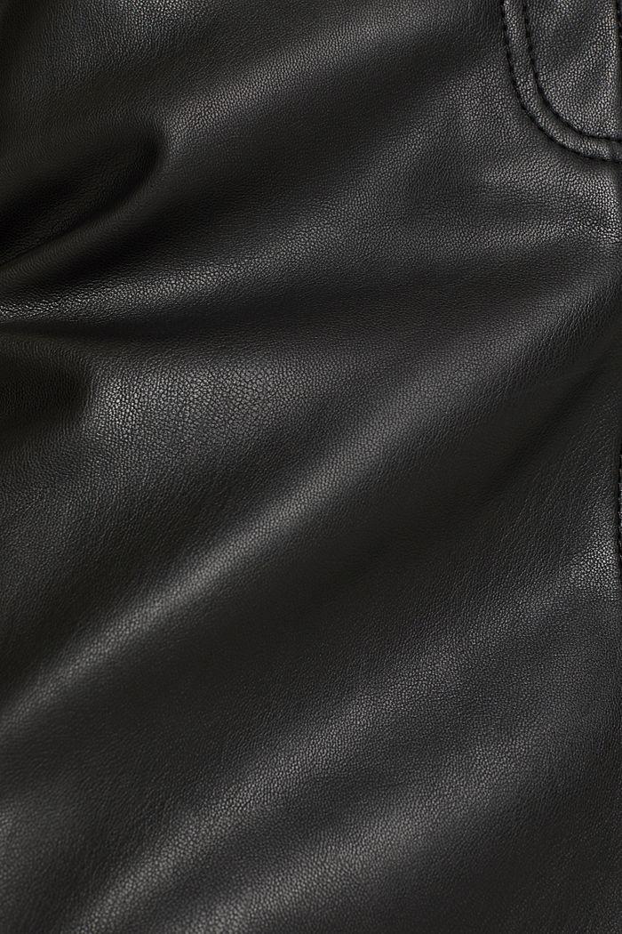 Faux leather mini skirt, BLACK, detail image number 4