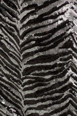 Sequin skirt in a zebra look