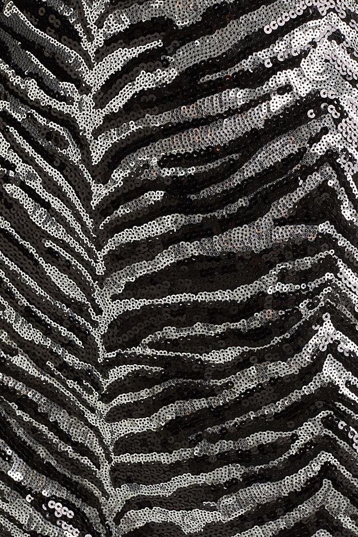 Sequin skirt in a zebra look, BLACK, detail image number 4