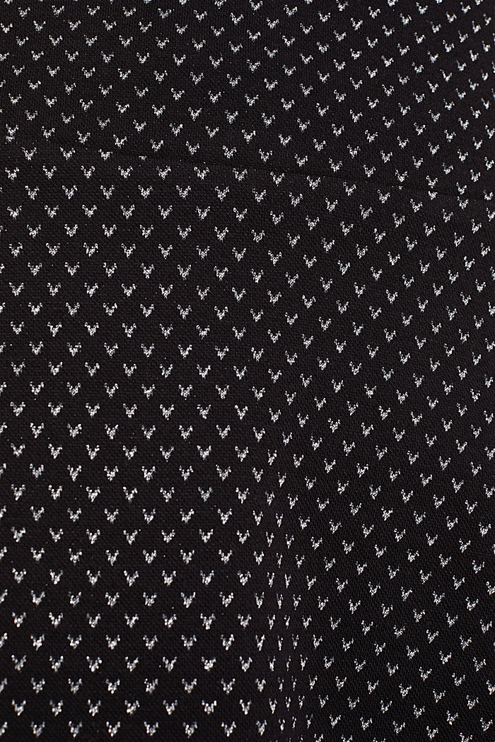 Jersey skirt with a glittering pattern, BLACK, detail image number 4