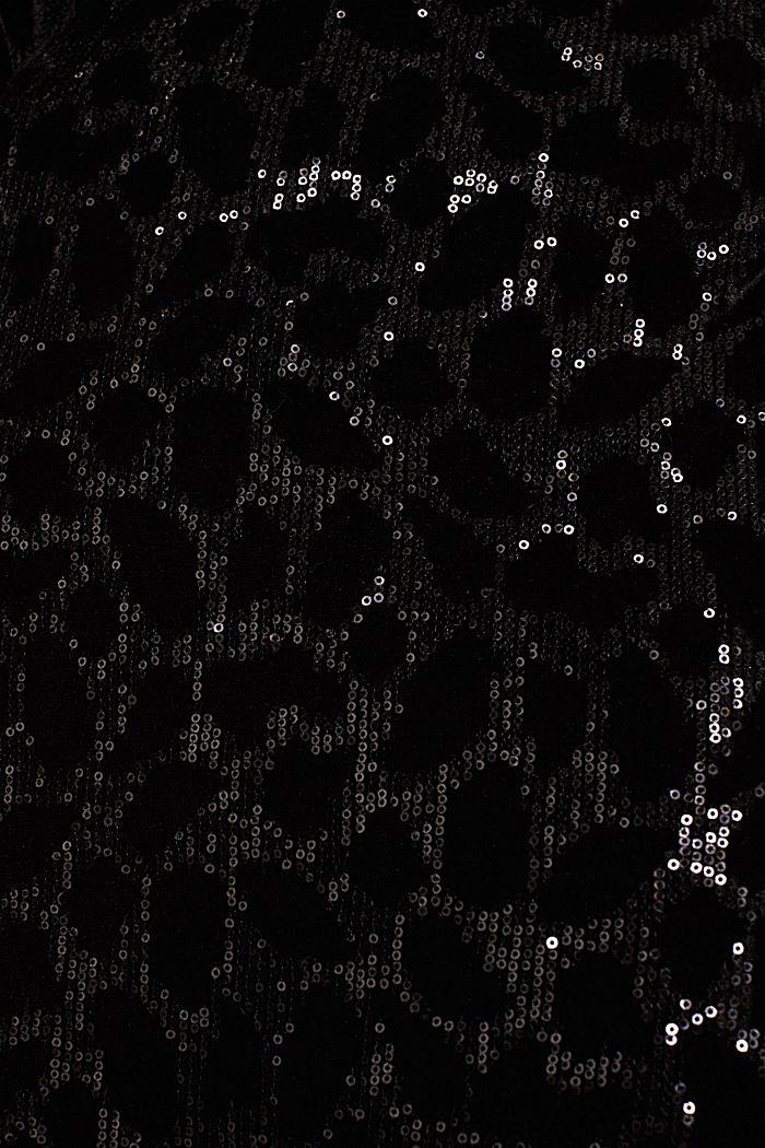 Velvet skirt with leopard-look sequins, BLACK, detail image number 4