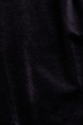 Comfy and stretchy velvet dress, BLACK, detail