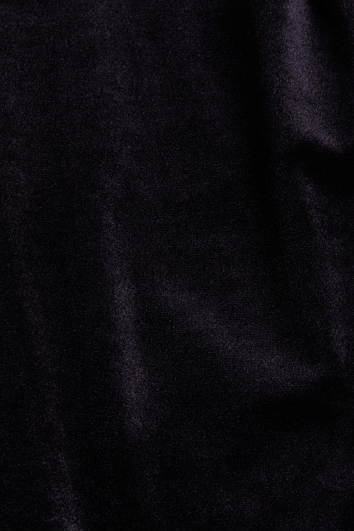 Samtkleid mit Stretchkomfort, BLACK, detail image number 4