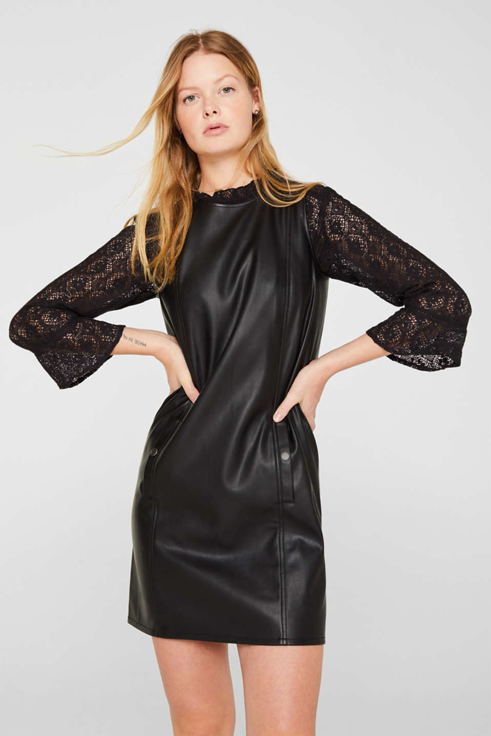 edc - Faux leather dress