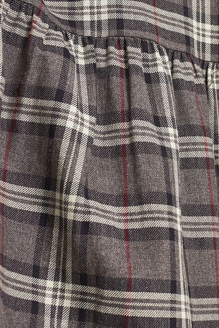 Flared check dress made of 100% cotton, GUNMETAL, detail image number 5