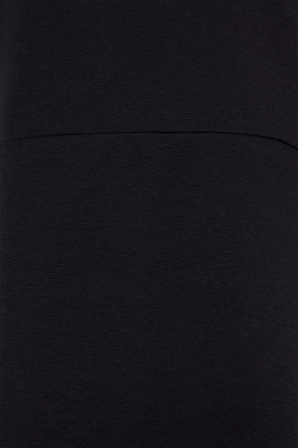 Textured stretch jersey dress, BLACK, detail image number 4