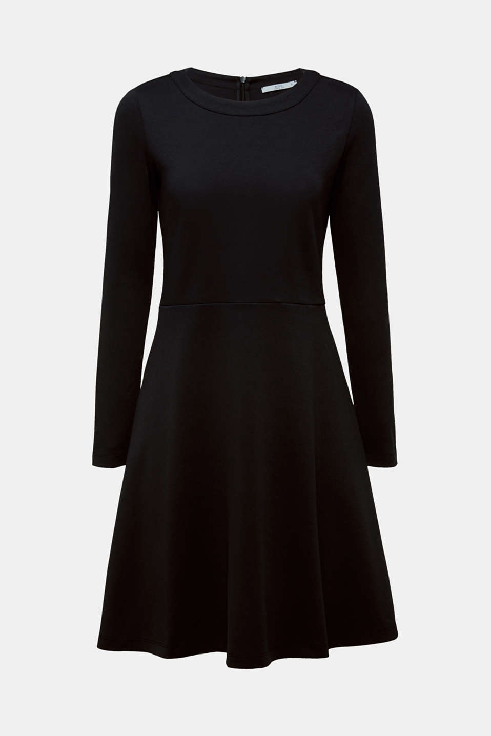 Textured stretch jersey dress, BLACK, detail image number 6