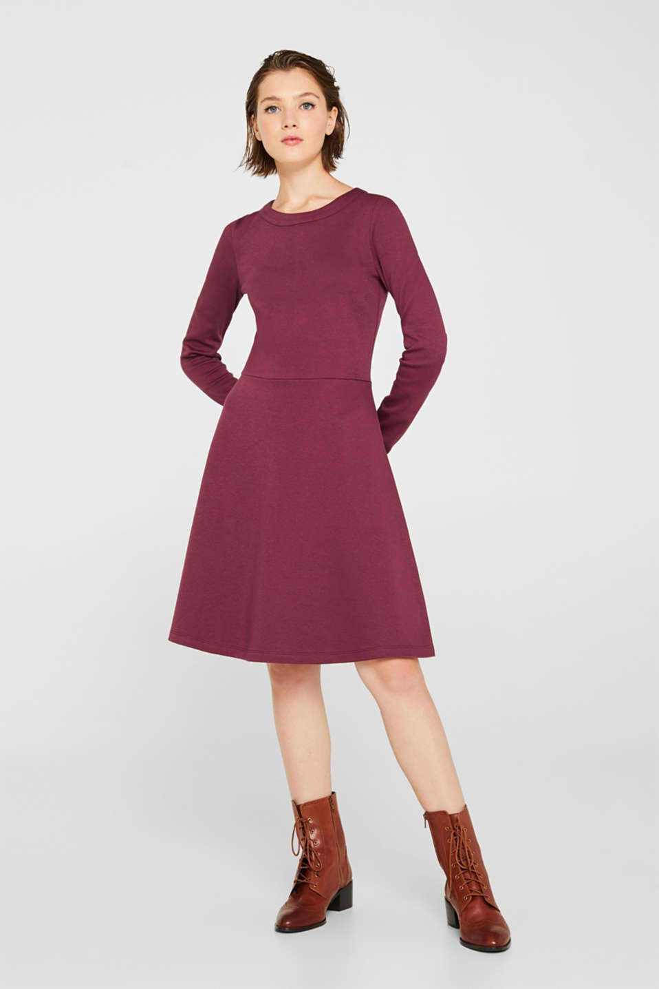 Dresses knitted, BORDEAUX RED, detail image number 0