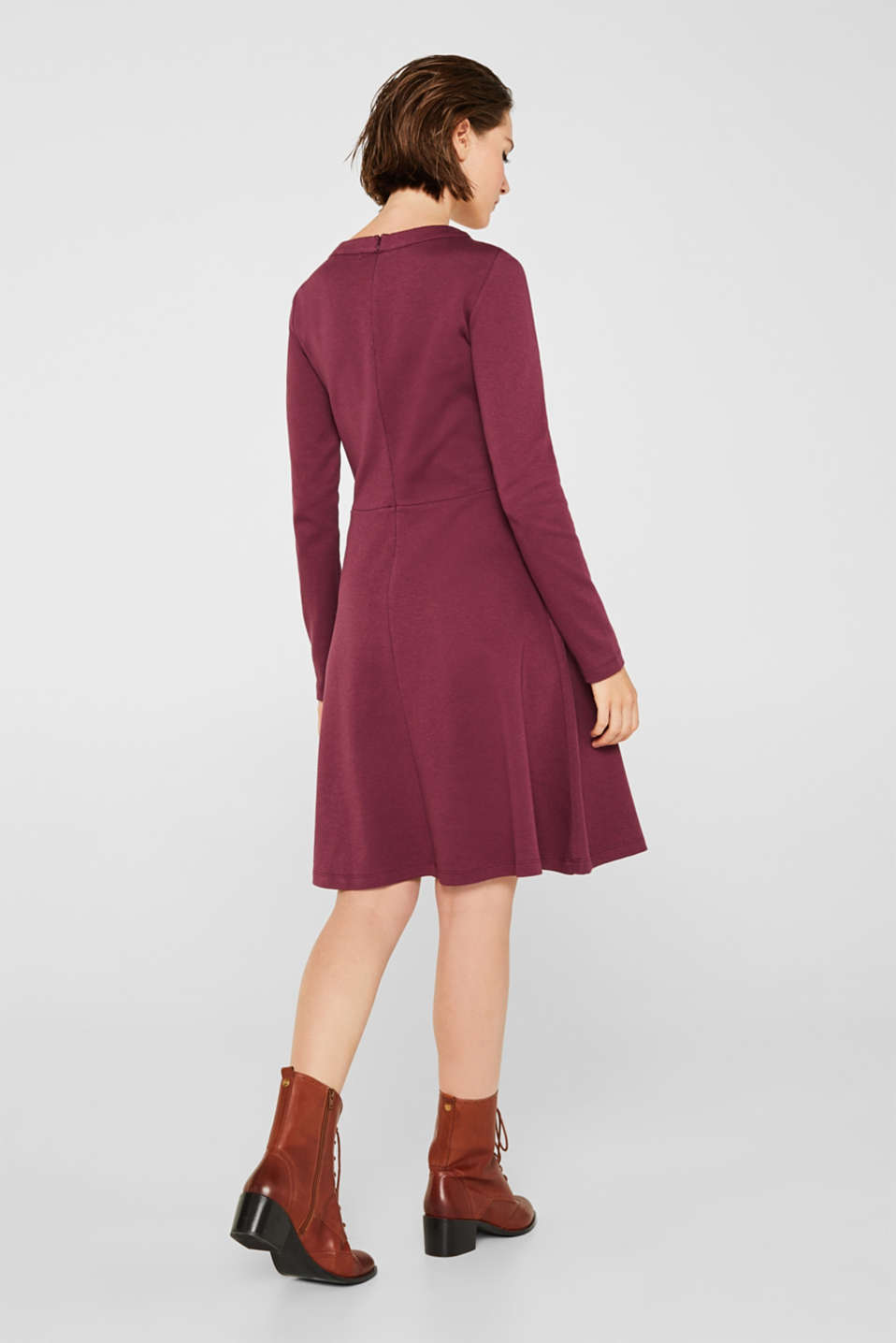 Dresses knitted, BORDEAUX RED, detail image number 2