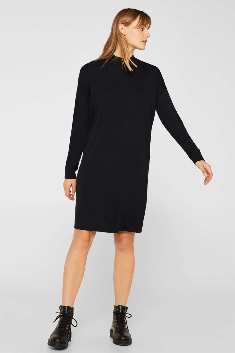 Dresses flat knitted, BLACK, detail image number 0