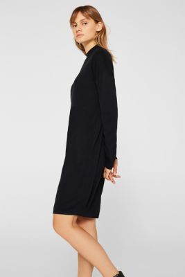 Dress made of a fine knit, recycled, BLACK, detail