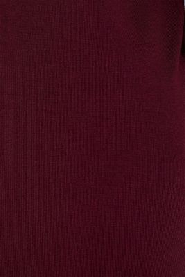 Dress made of a fine knit, recycled, BORDEAUX RED, detail