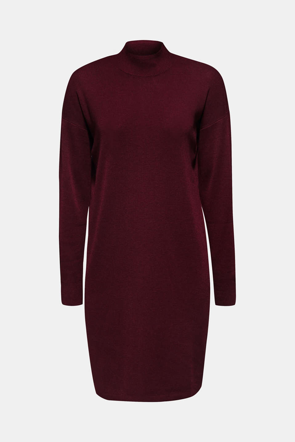 Dress made of a fine knit, recycled, BORDEAUX RED, detail image number 6