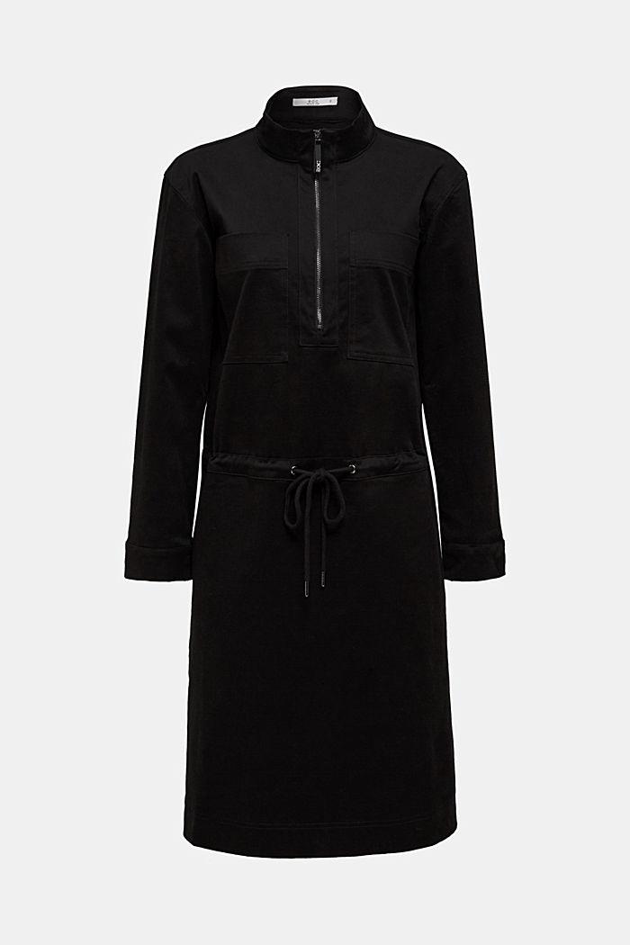 Stretch cotton twill dress