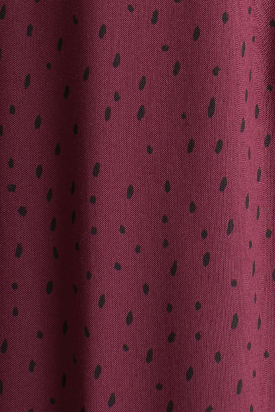 Patterned print blouse made of LENZING™ ECOVERO™, BORDEAUX RED, detail image number 3