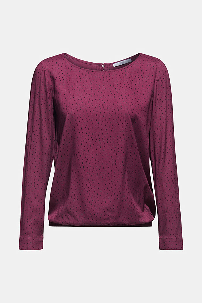 Patterned print blouse made of LENZING™ ECOVERO™, BORDEAUX RED, detail image number 6