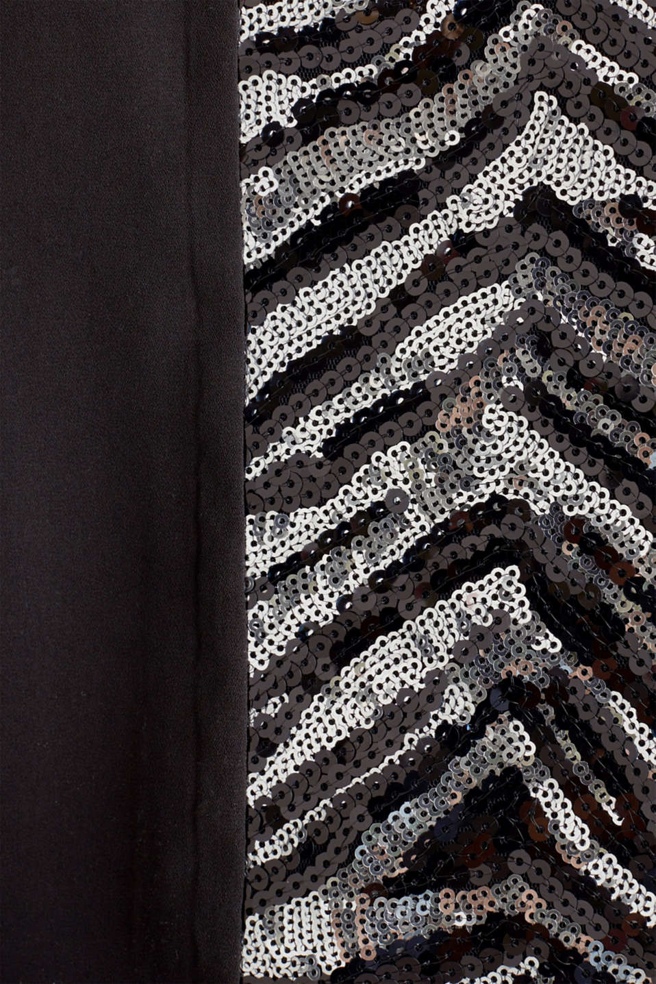 Sequinned spaghetti strap top, BLACK, detail image number 2