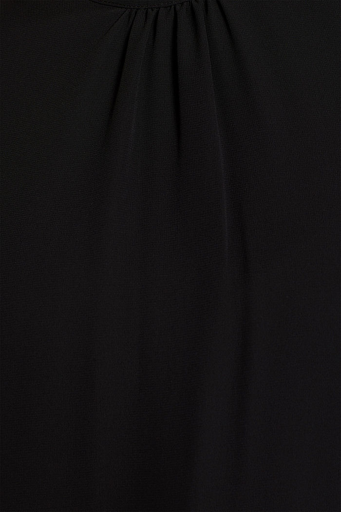 Chiffon/jersey top with a balloon hem, BLACK, detail image number 4