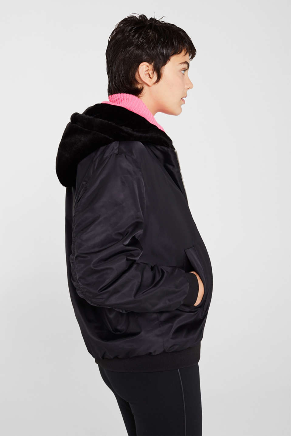 Jackets outdoor woven, BLACK, detail image number 5
