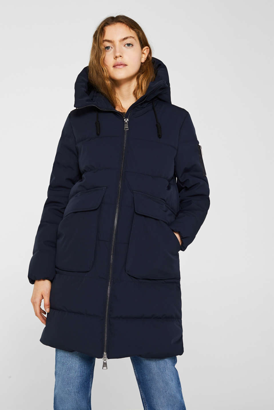 edc - Quilted coat with hood