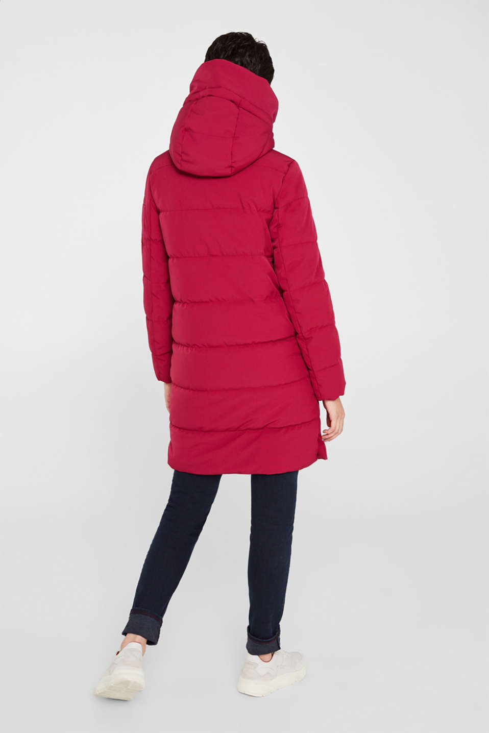 Quilted coat with hood, BERRY PURPLE, detail image number 3