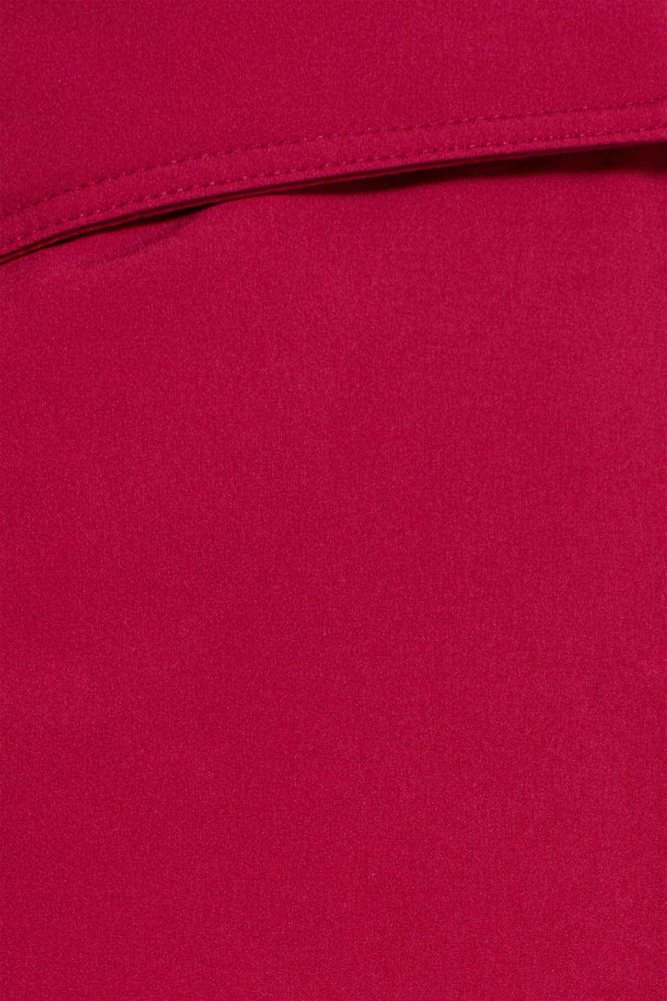 Quilted coat with hood, BERRY PURPLE, detail image number 4