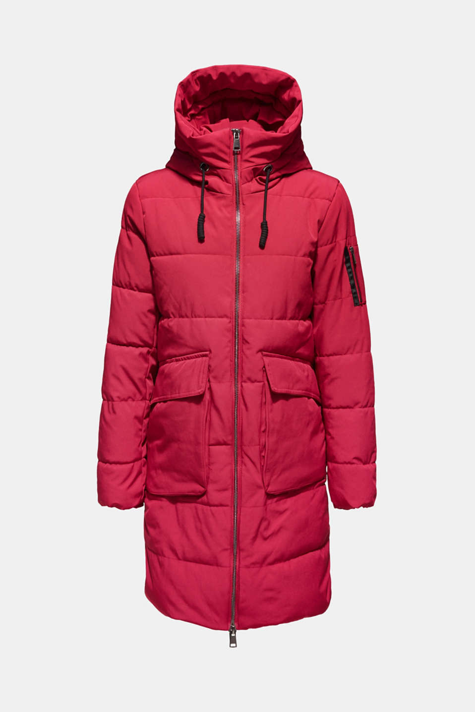 Quilted coat with hood, BERRY PURPLE, detail image number 7