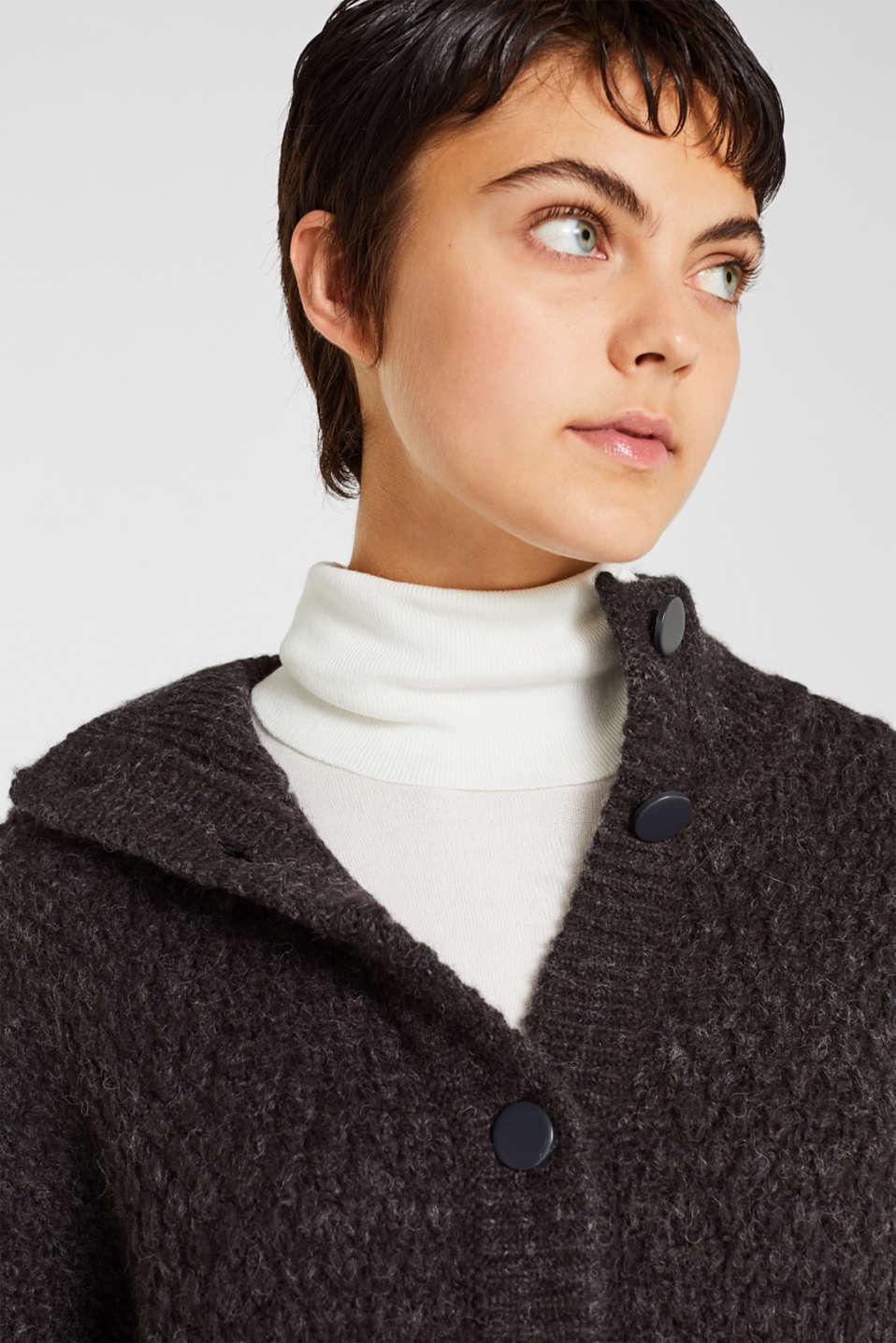 Sweaters cardigan, DARK GREY 5, detail image number 6