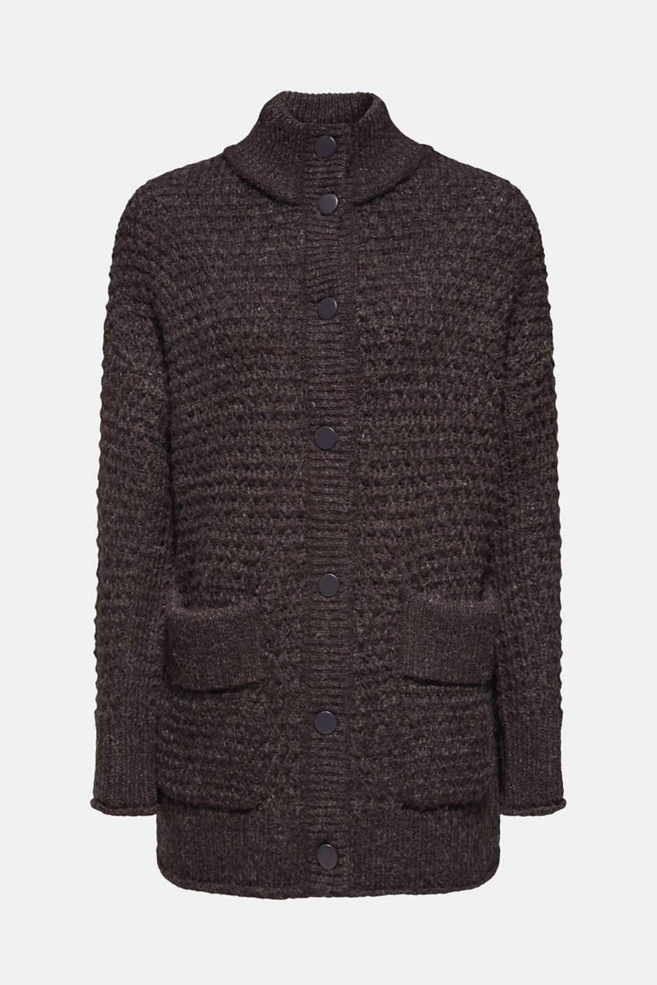 Sweaters cardigan, DARK GREY 5, detail image number 7