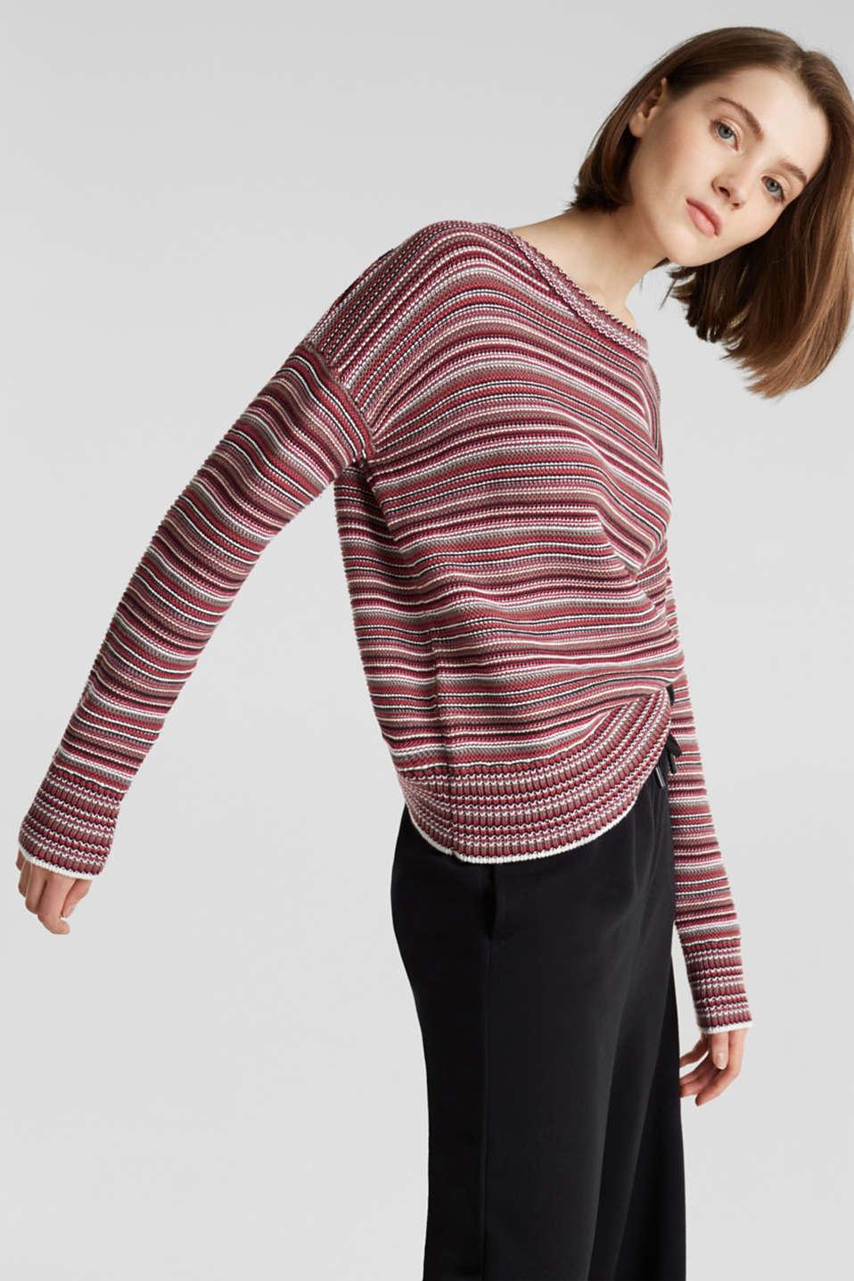 edc Pullover mit Streifen Struktur im Online Shop kaufen