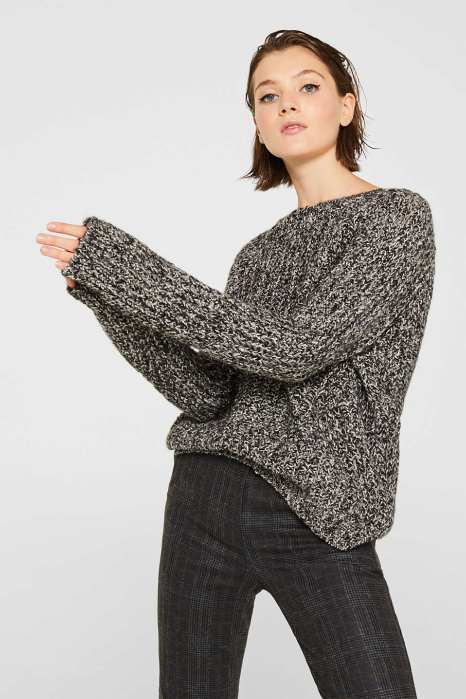edc - Mit Wolle: Moulinè-Pullover