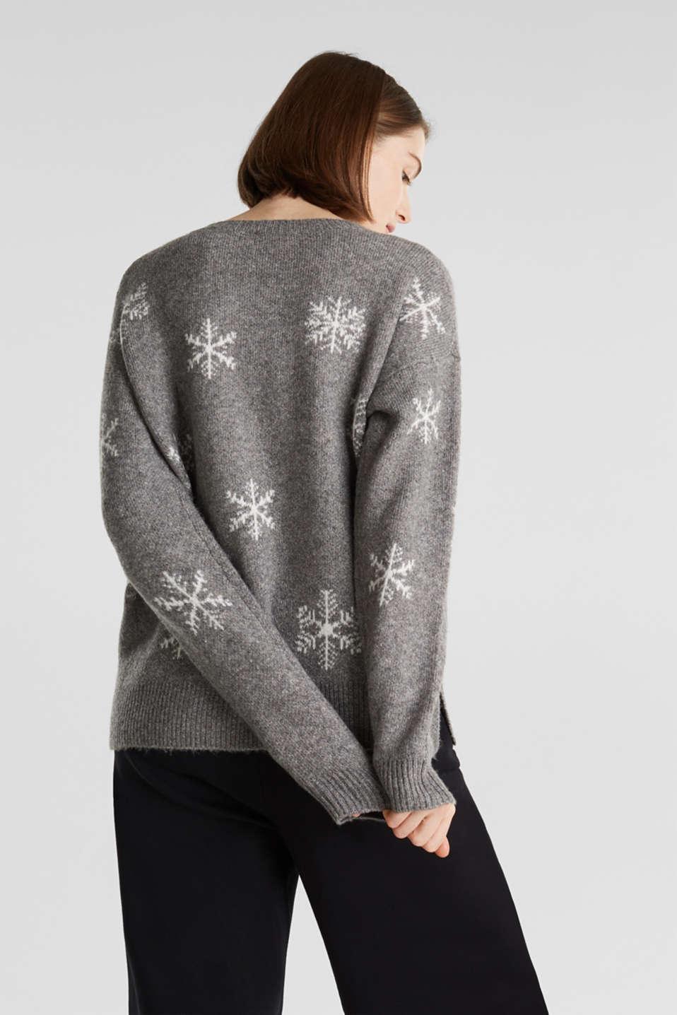 Sweaters, GUNMETAL 4, detail image number 3