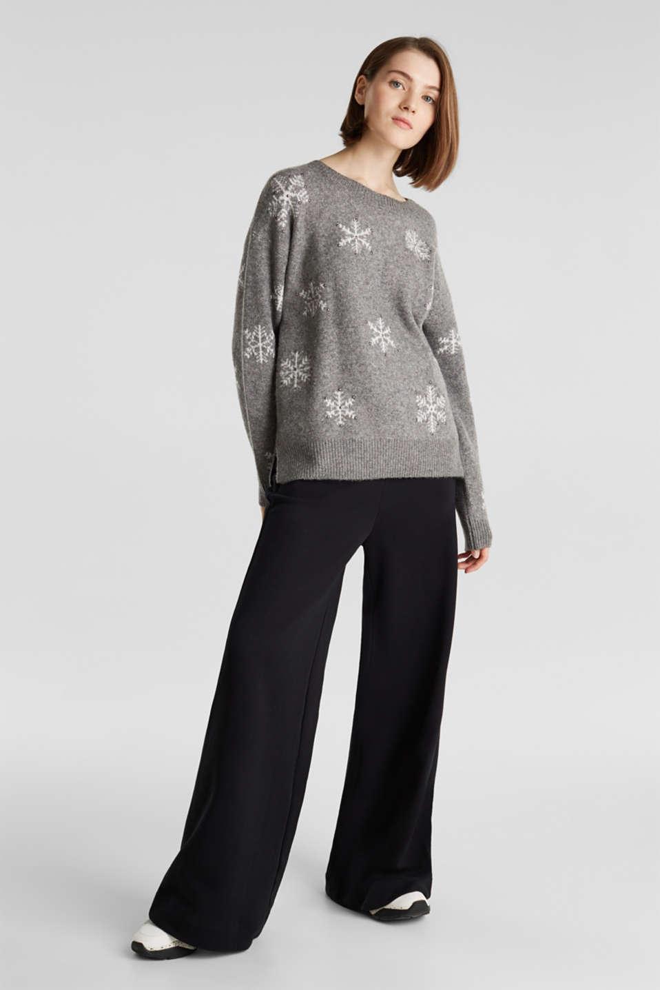 Sweaters, GUNMETAL 4, detail image number 1